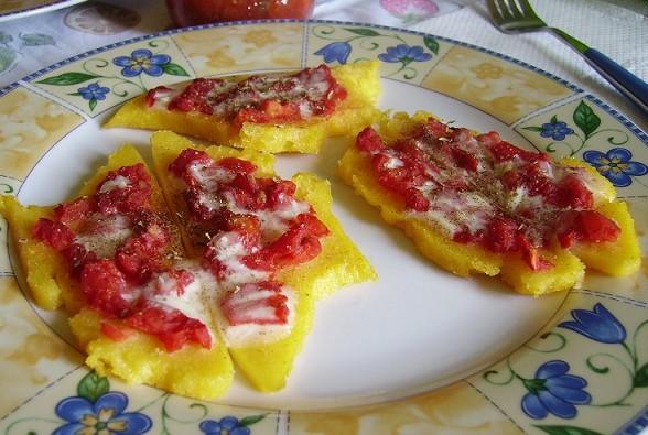 bruschetta di polenta