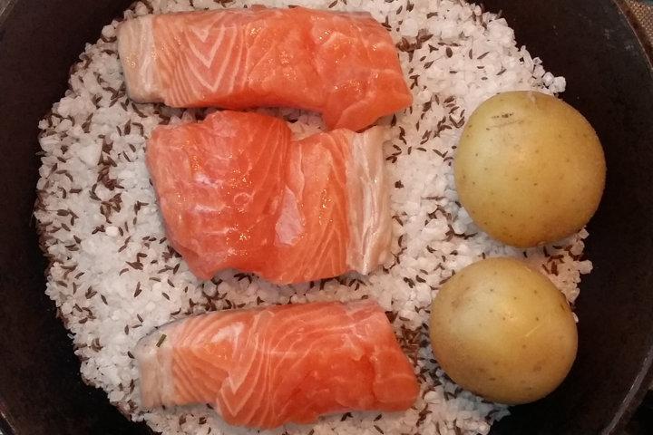 salmone con sale