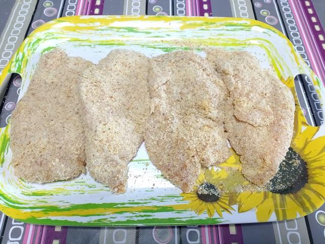 preparazione cordon bleu con prosciutto e formaggio 7