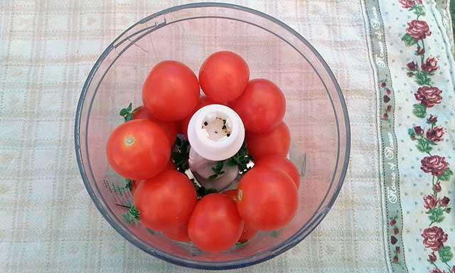 pomodorini e maggiorana