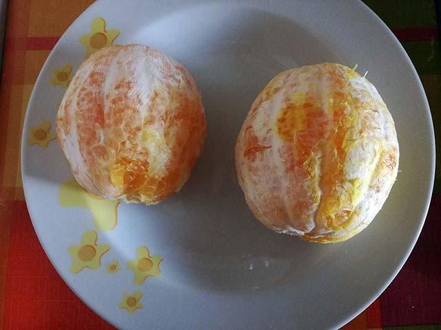 arance sbucciate