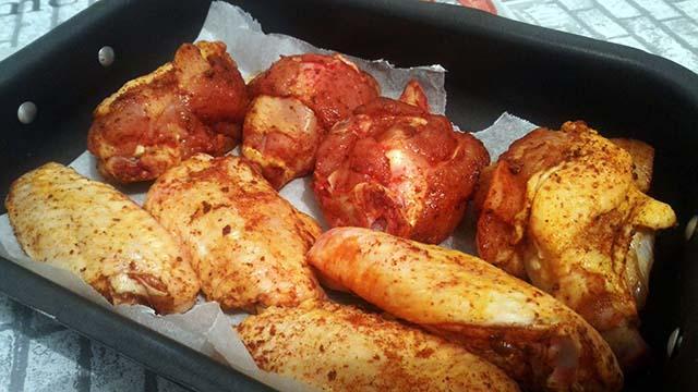 ali di pollo in teglia
