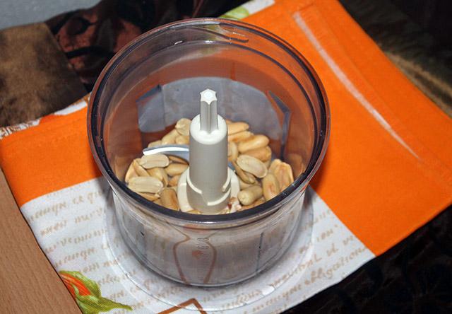 arachidi nel mixer