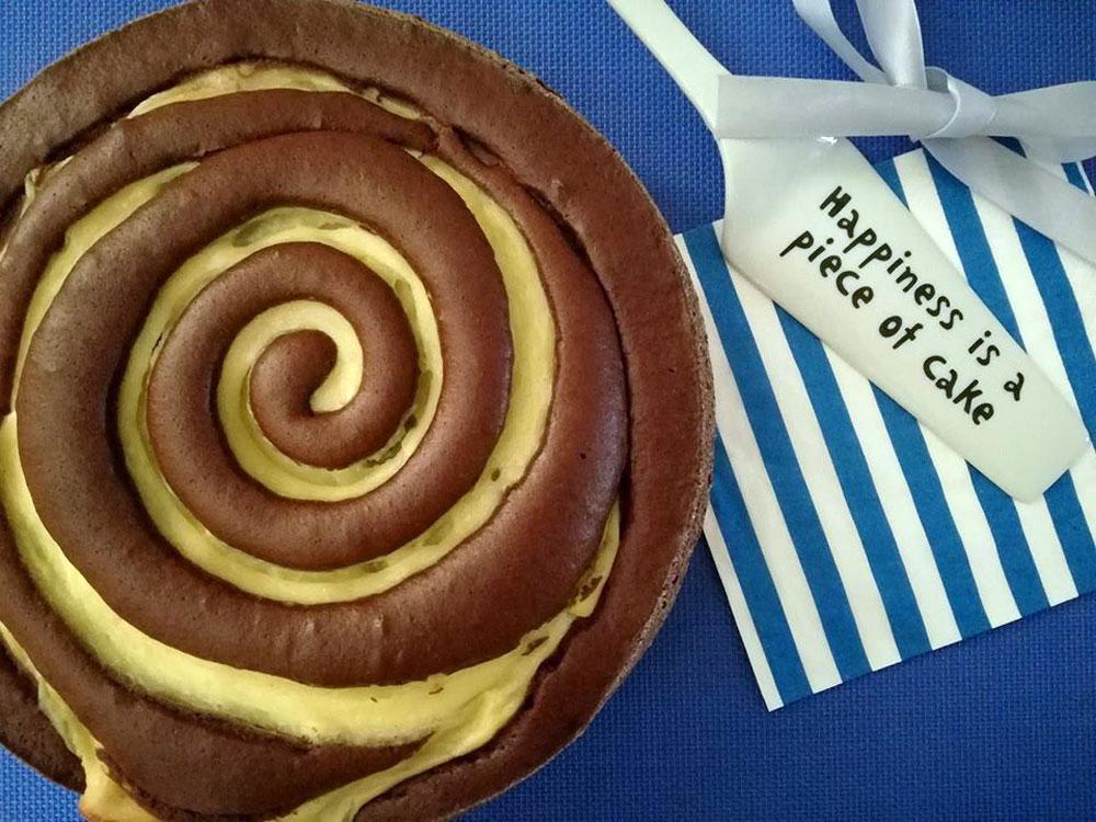 torta girella con crema pasticciera