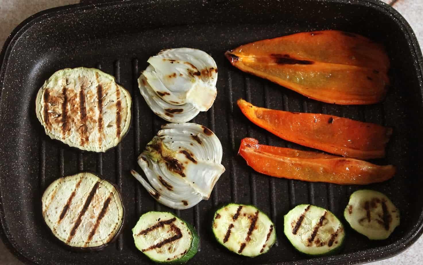 grigliatura verdure