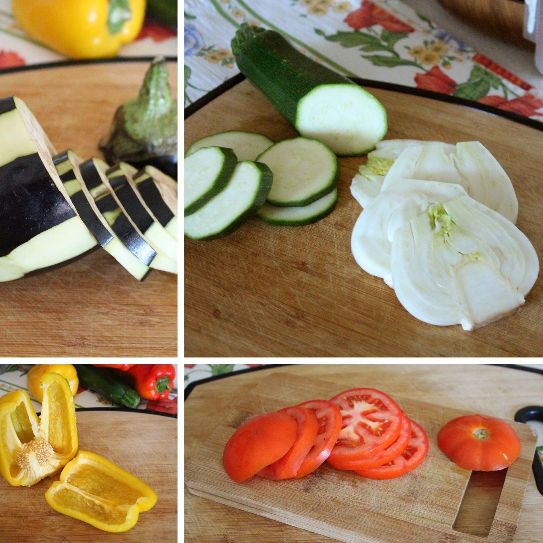 taglio verdure foto